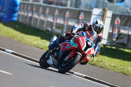 Michael won a red flagged Superstock race