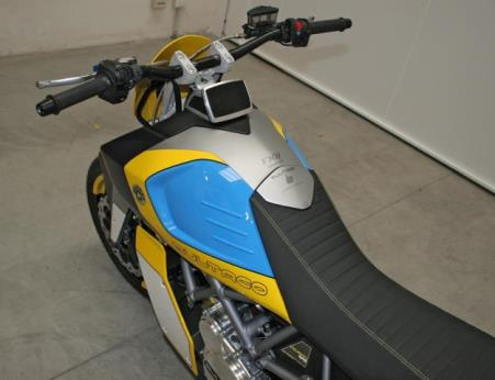 The tank and digital display of the Bultaco Rapitan Sport