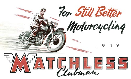 An original advertising poster for Matchless in 1949.