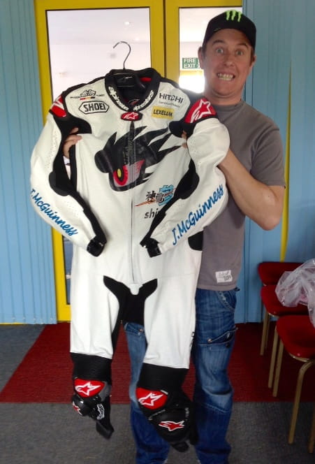 McGuinness with his new fighting suit