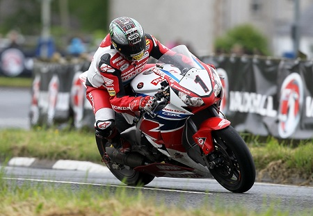 McGuinness struggled at the NW200