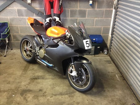 Ducati Superleggera owned by Ducati Glasgow owner Martin Rees.