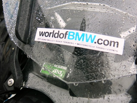 Traditional British weather for the World of BMW
