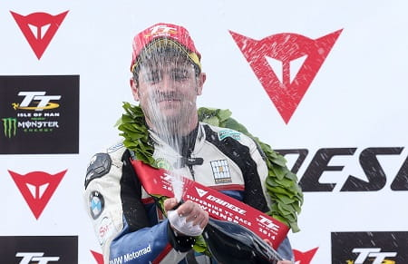 Dunlop took victory in today's Superbike race
