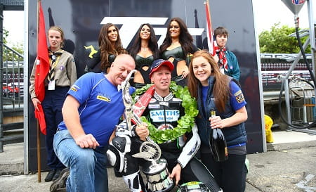 Gary Johnson took Triumph's first win for eleven years