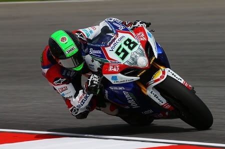 Laverty was back on the podium in race one