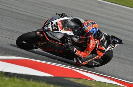 Melandri took his first win with Aprilia