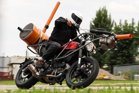 Ducati Scrambler spied while noise testing