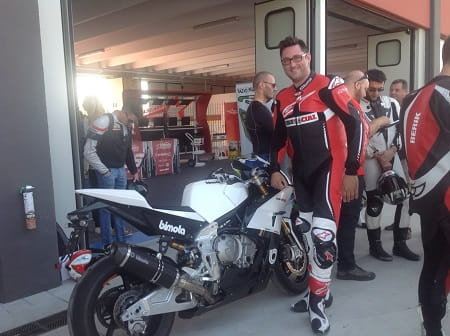Marc Potter tested the BB3 in Italy today