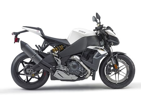 The Buell EBR 1190SX. A stripped-down version of the 185bhp fully-faired 1190RX.
