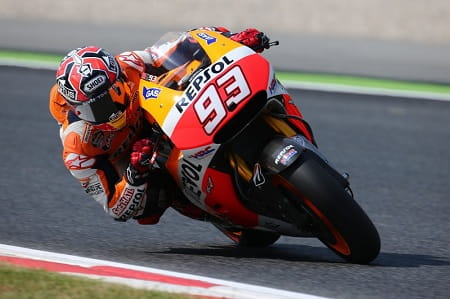 Marquez was fastest once again in post-race testing