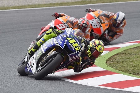 Rossi led most of the race