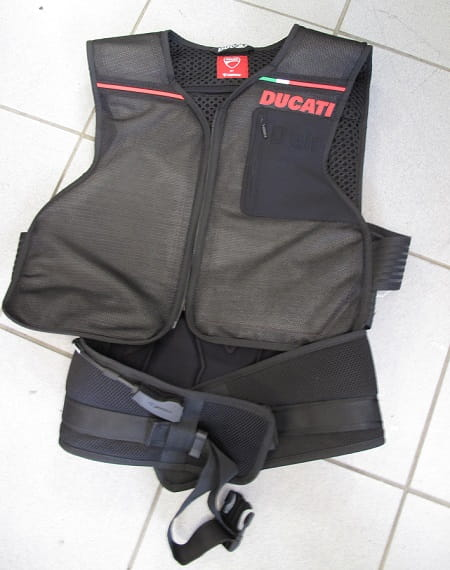 This is the vest. It will soon become as natural as putting on a back protector before you go for a ride.