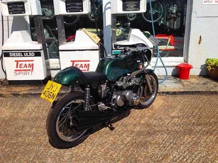Those six pipes, that massive motor sticking out the sides. It's a Benelli six alright.