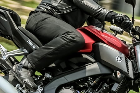 Bull-It VoloCE jeans as used on the Yamaha MT-125 launch