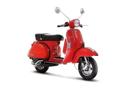 Retro styling of the Vespa PX