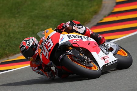 Marquez took the lead on lap 6 after starting in pit lane