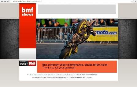 BMF Shows website - down