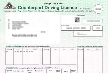Green part of the driving licence should be officially scrapped next year.