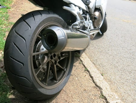 Dunlop's work well adding to the VFR's smart handling