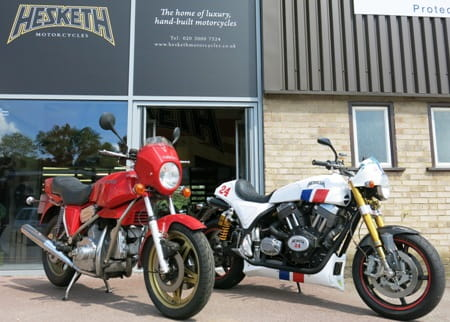 Hesketh new and old. At least one will be in action at Donington Park