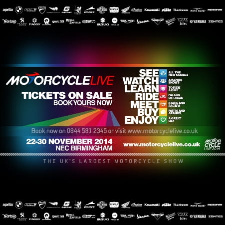 What's on at Motorcycle Live 2014