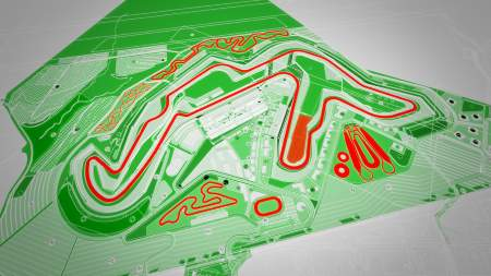 Proposed layout of the Circuit of Wales