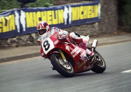 Foggy on the RC30 at the 1990 TT