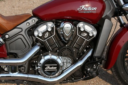 Single-seat leather saddle and a big V-twin; only in the USA