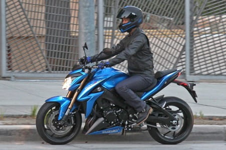 Suzuki GSX-S1000 spotted in LA on a promo shoot