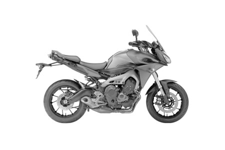 Trademark design image of Yamaha's MT-09 Sports Tourer