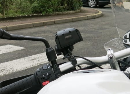 Mounted on a Triumph Tiger XC