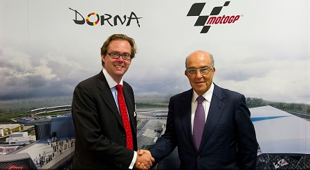 Carrick with Dorna CEO, Carmelo Ezpeleta