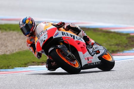 Pedrosa denied his team mate an eleventh victory