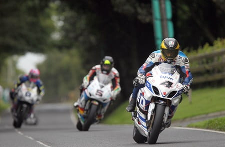 Martin took the lead early in the first Superbike race