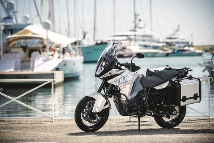 New-for-2015 KTM 1290 Super Adventure. Not afraid of the water.