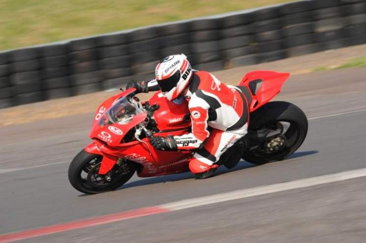 Ducati 1199 Panigale handles corners with aplomb