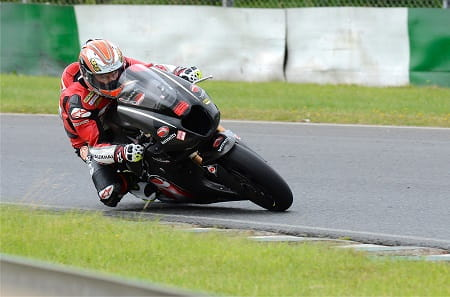 McWilliams tested the bike at Mallory Park
