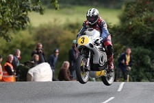 Dunlop's other ride is a Molnar Manx Norton