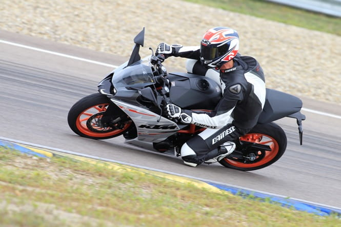 Our man tests the RC390's sporty capabilities
