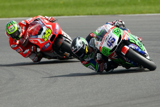 Scott Redding leads Cal Crutchlow at Silverstone, will he do the same at Donington Park next year?