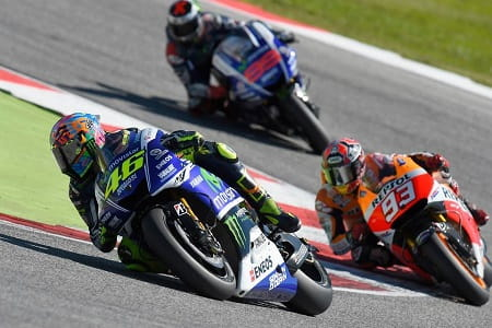 Marquez fell in pursuit of the Italian