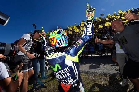 Valentino Rossi wins in front of his home crowd