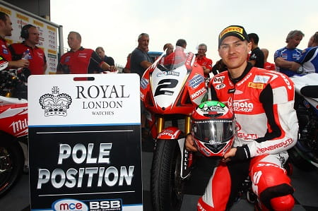 Iddon took Bimota's debut pole position