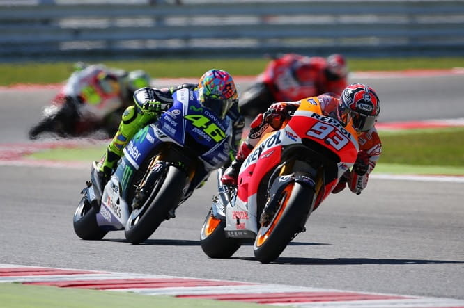 Marquez couldn't stay ahead of Rossi in Misano