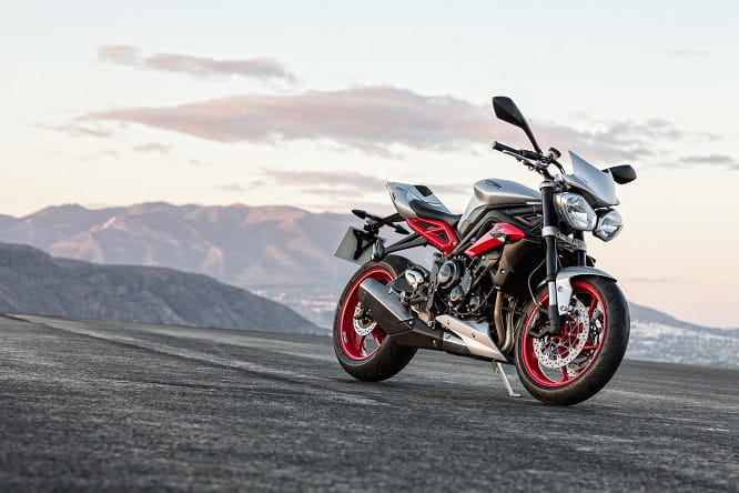 Street Triple Rx in Silver and Red, available from early 2015