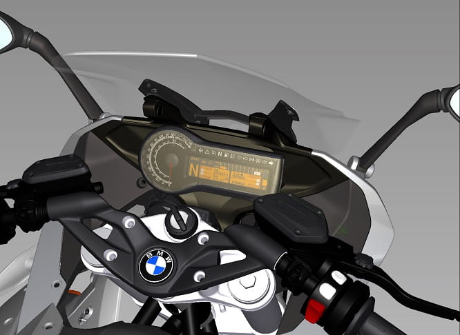 Computer generated image of the BMW's display