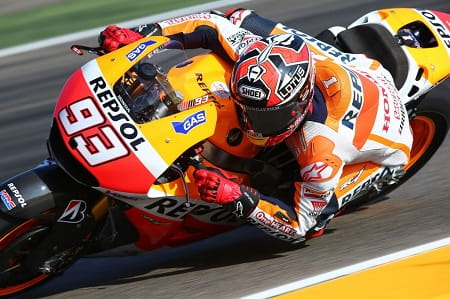 Marquez led after Iannone's fall