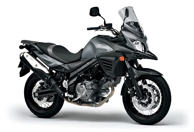 V-Strom 650XT in grey but without panniers