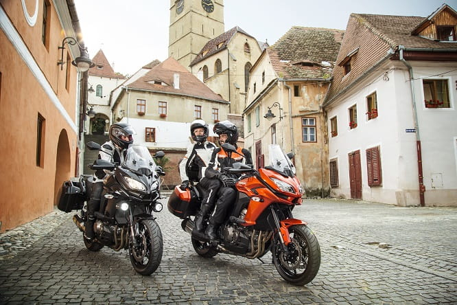 Fully loaded Versys1000, in grey or orange